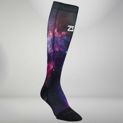 Space Nebula Compression Socks (Knee-High)Socks - Zensah