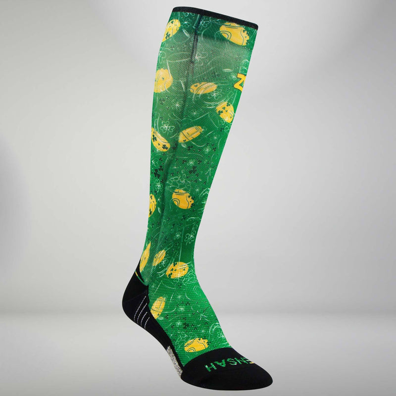 St Patrick's Doodle Compression Socks (Knee-High)