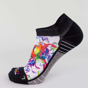 Marble Running Socks (No Show)