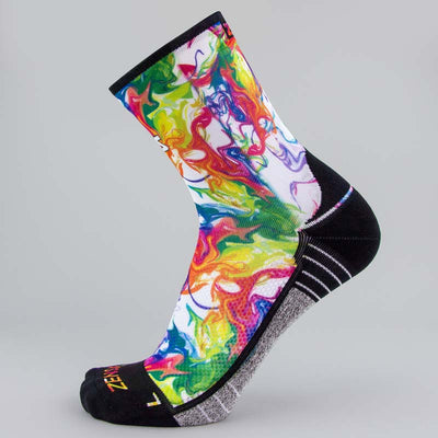 Marble Abstract Socks (Mini-Crew)