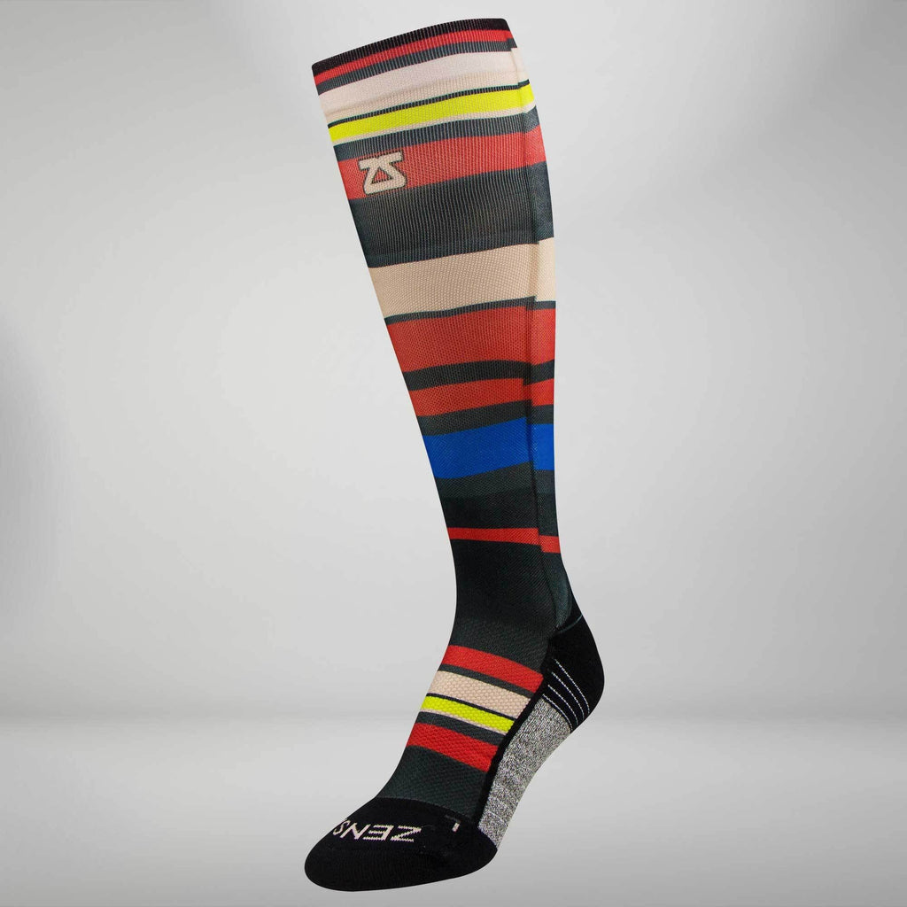Multi Stripes Compression Socks (Knee-High)