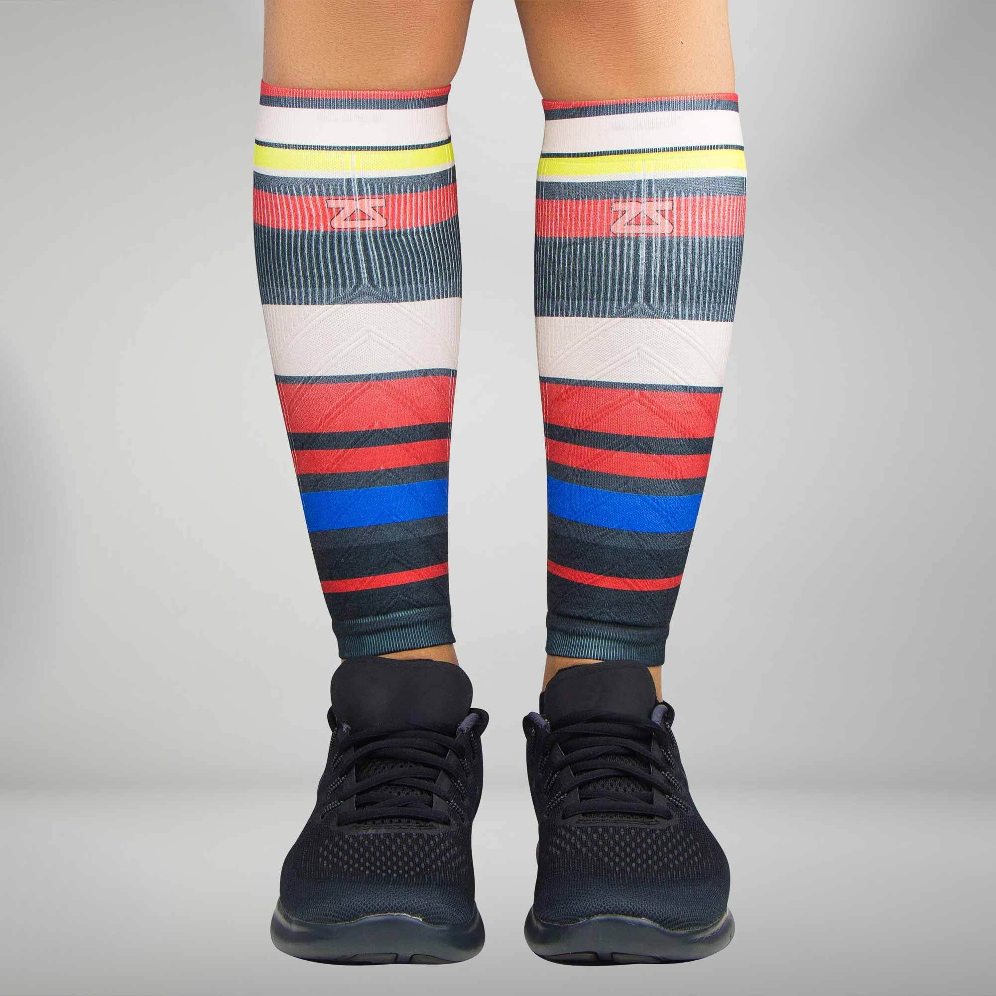 Multi Stripes Compression Leg Sleeves