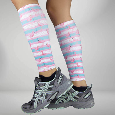 Summer Flamingo Compression Leg Sleeves