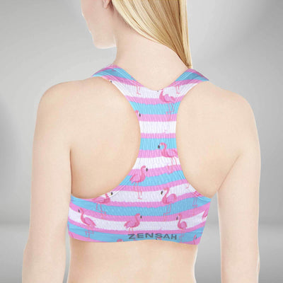 Summer Flamingo Sports Bra