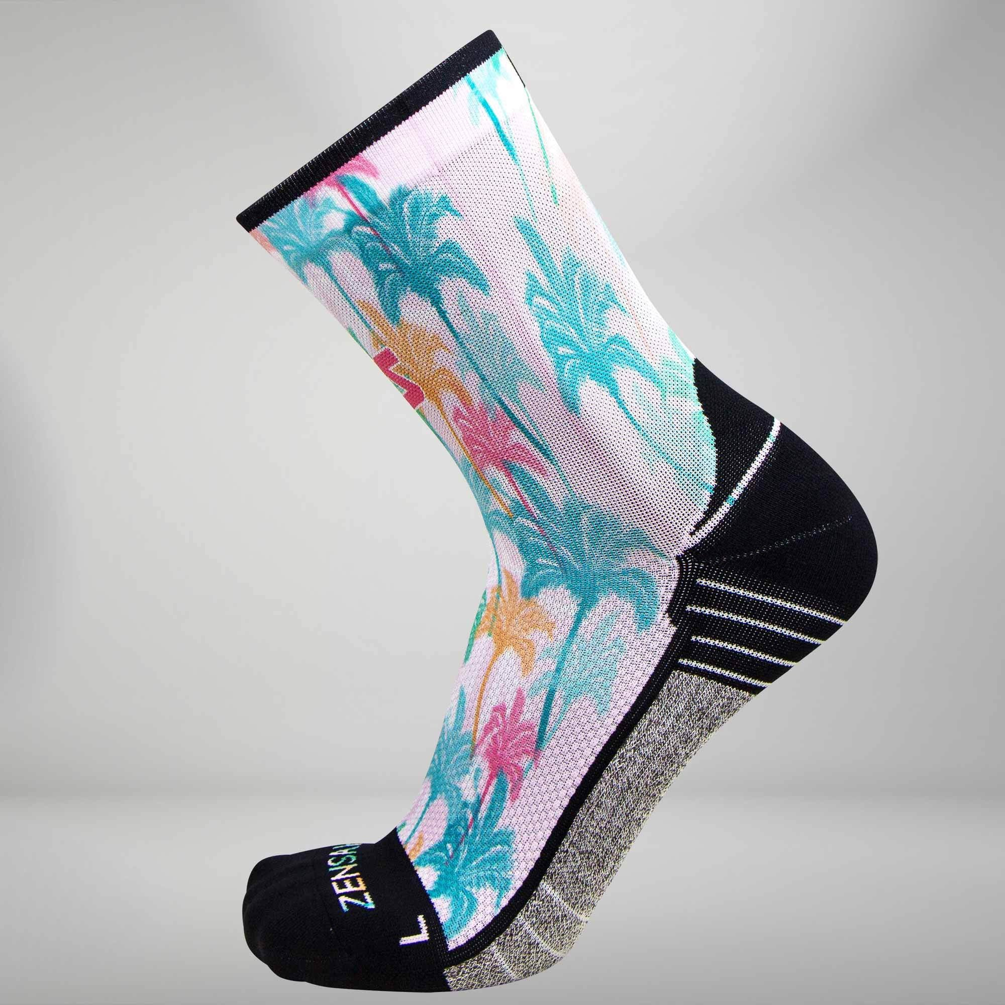 Summer Palm Trees Socks (Mini-Crew)