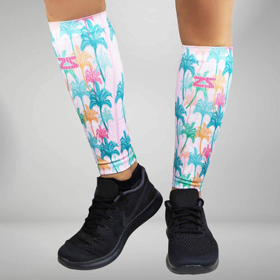 Summer Palm Trees Compression Leg Sleeves
