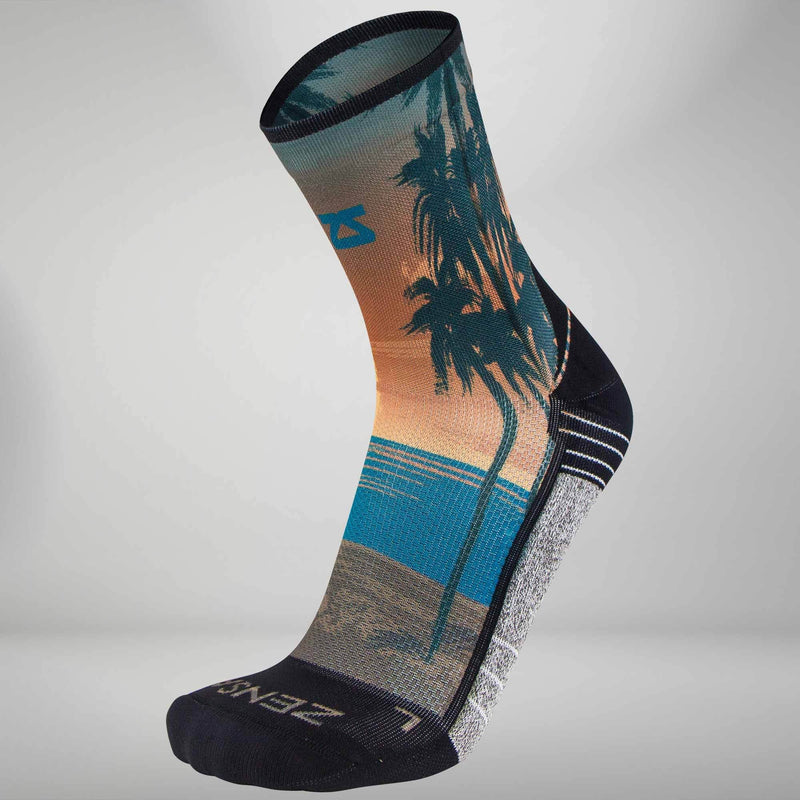 Tropical Sunset Socks (Mini Crew)Socks - Zensah