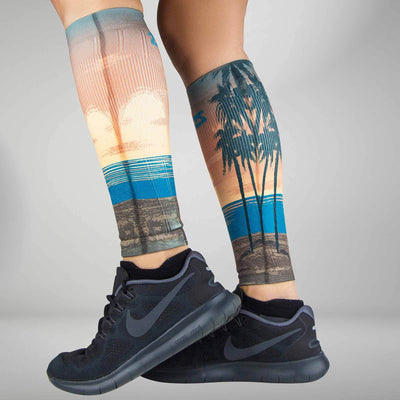 Tropical Sunset Compression Leg Sleeves