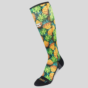 Sweet Pineapples Compression Socks (Knee-High)