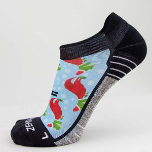 T-Rex Santas Running Socks (No Show)