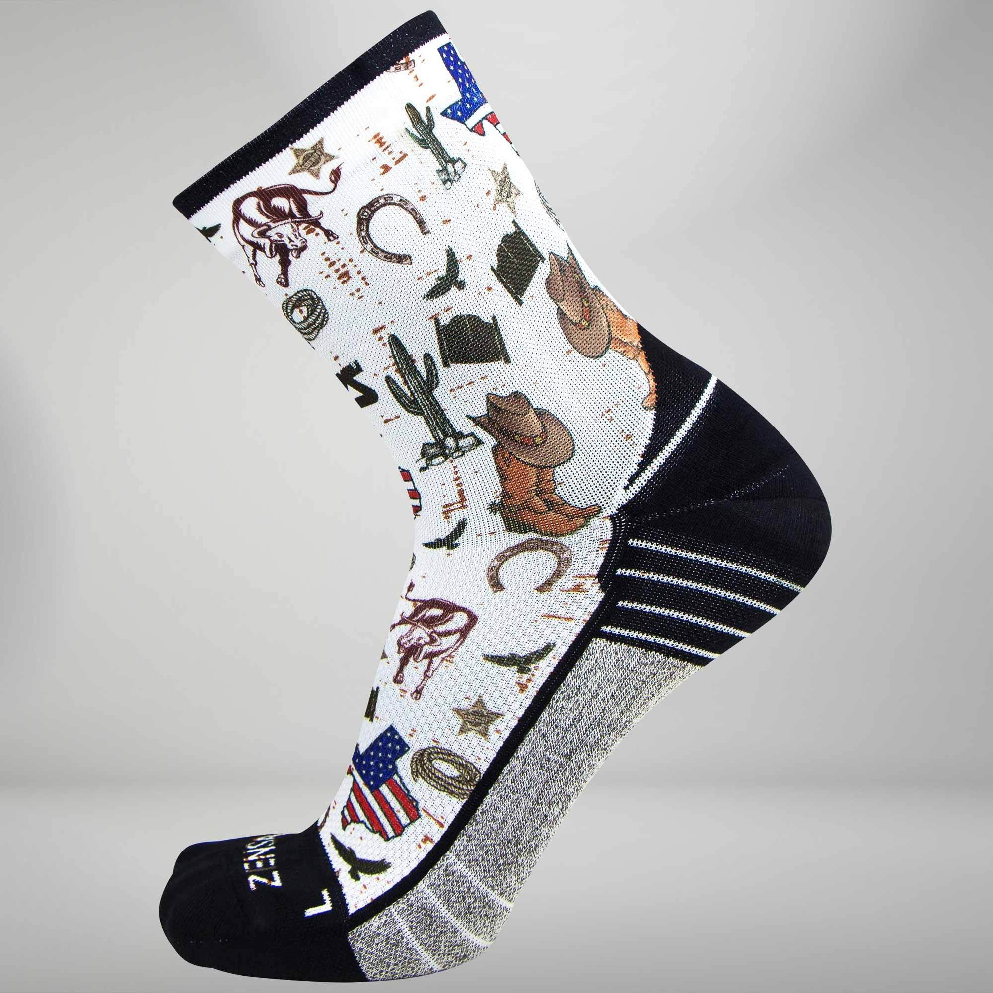 Texas Collage Socks (Mini-Crew)