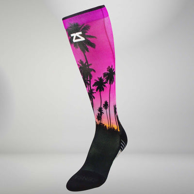 Tropical Palm Trees Compression Socks (Knee-High)