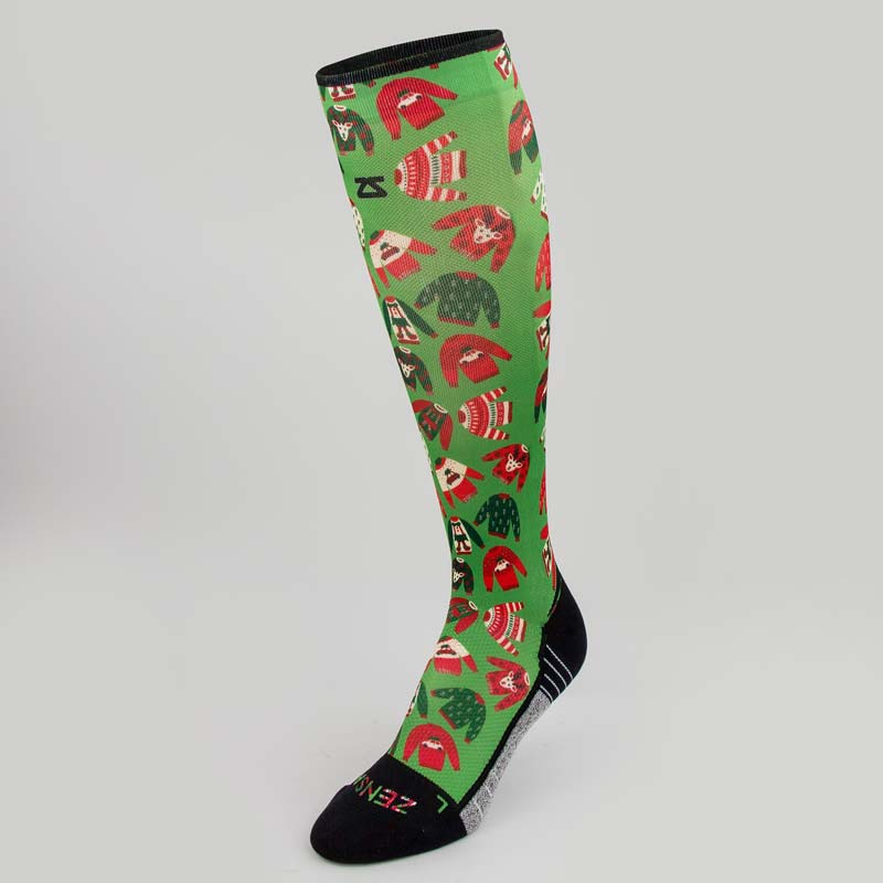 Xmas Sweater Compression Socks (Knee-High)