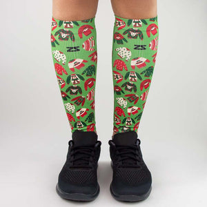 Xmas Sweater Compression Leg Sleeves