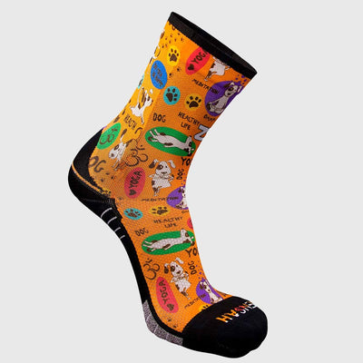 Yoga Dog Socks (Mini-Crew)