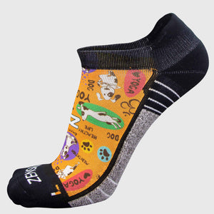 Yoga Dog Running Socks (No Show)