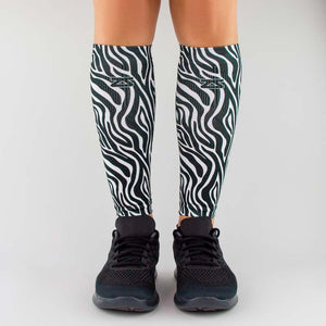Zebra Compression Leg Sleeves
