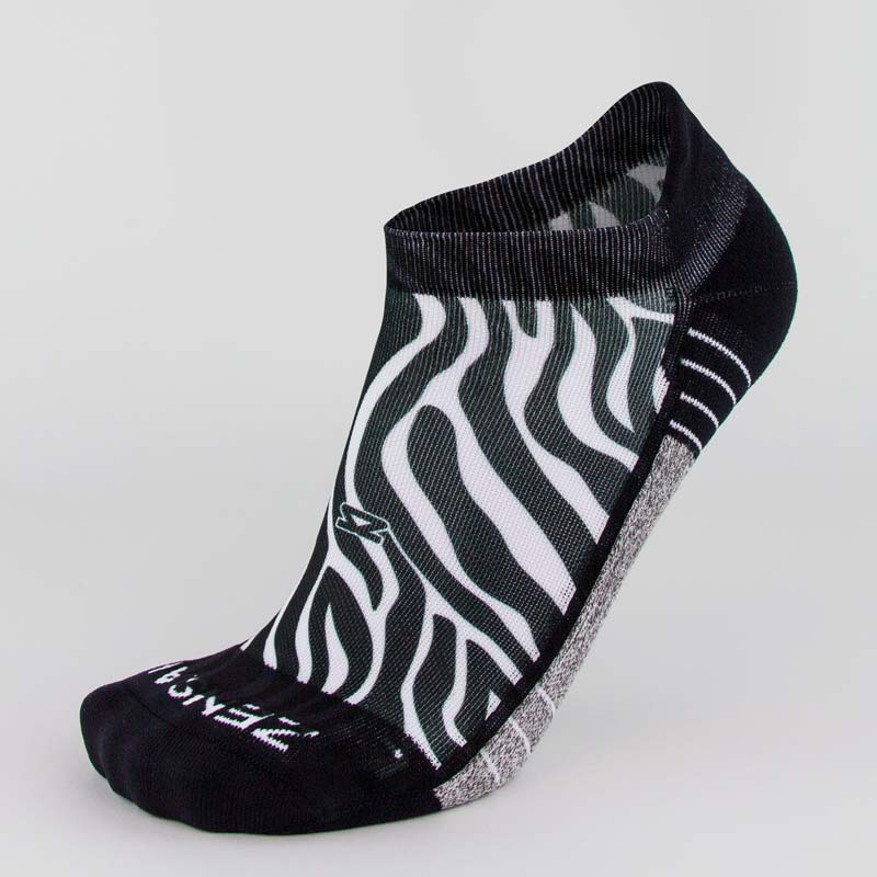 Zebra Running Socks (No Show)