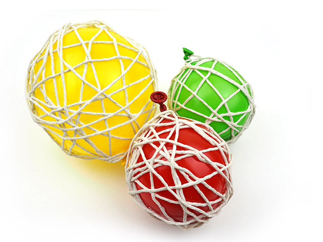 Handmade string decorations