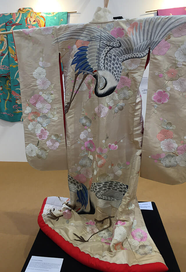 Silk kimono on display at NEC sewing show