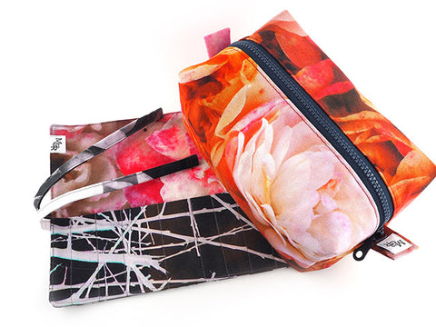 Handmade rose and thorn print accessories