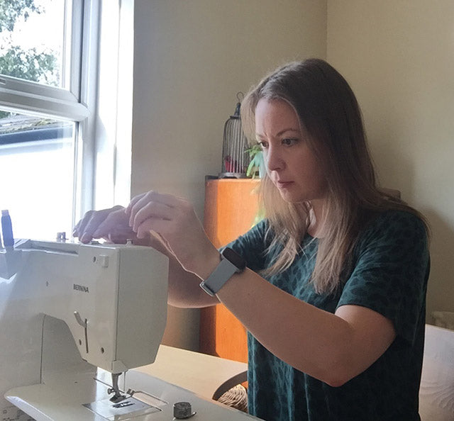Making handmade clothes on the sewing machine