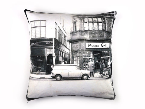 Vintage photo print handmade cushion