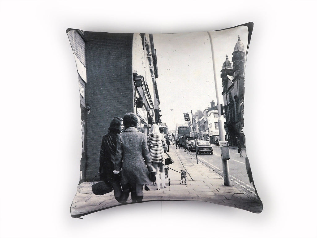 Vintage 1960's photograph print cushion cover