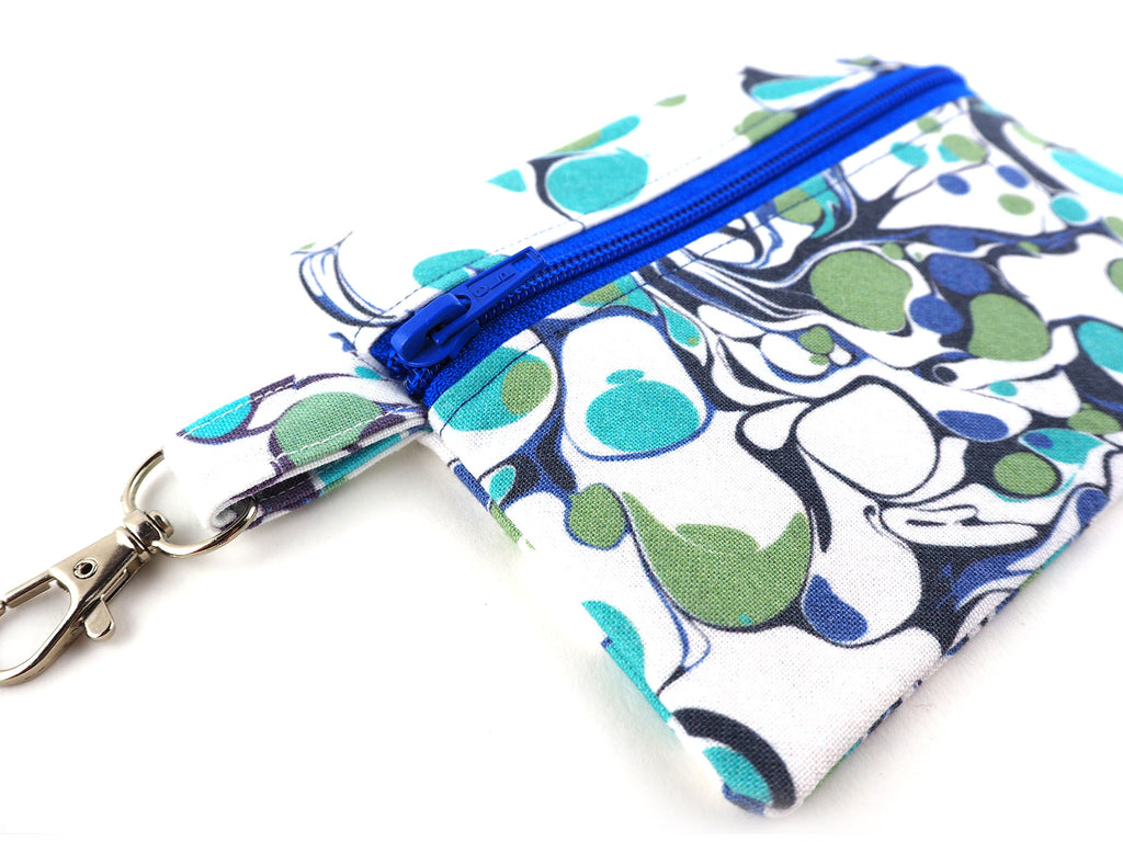 Handmade zipper coin purse with clasp