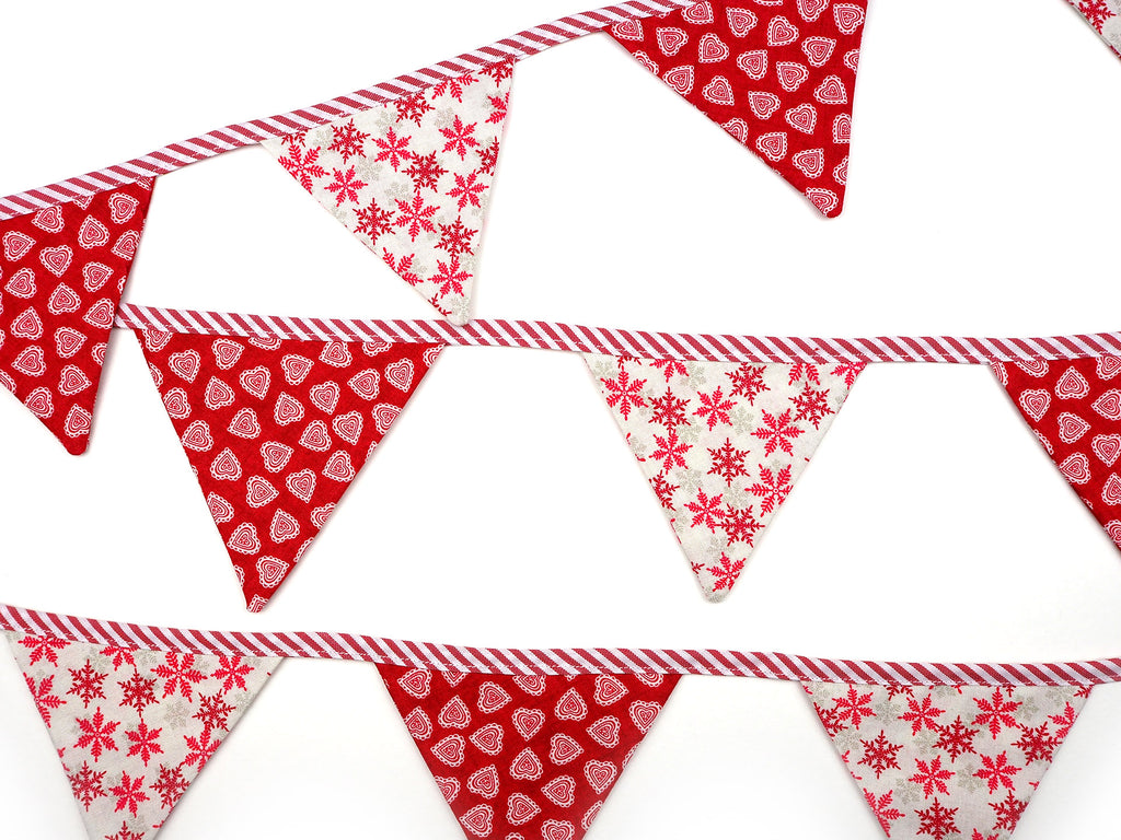 Handmade Christmas bunting decoration