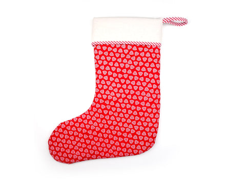 Luxury handmade Christmas stocking