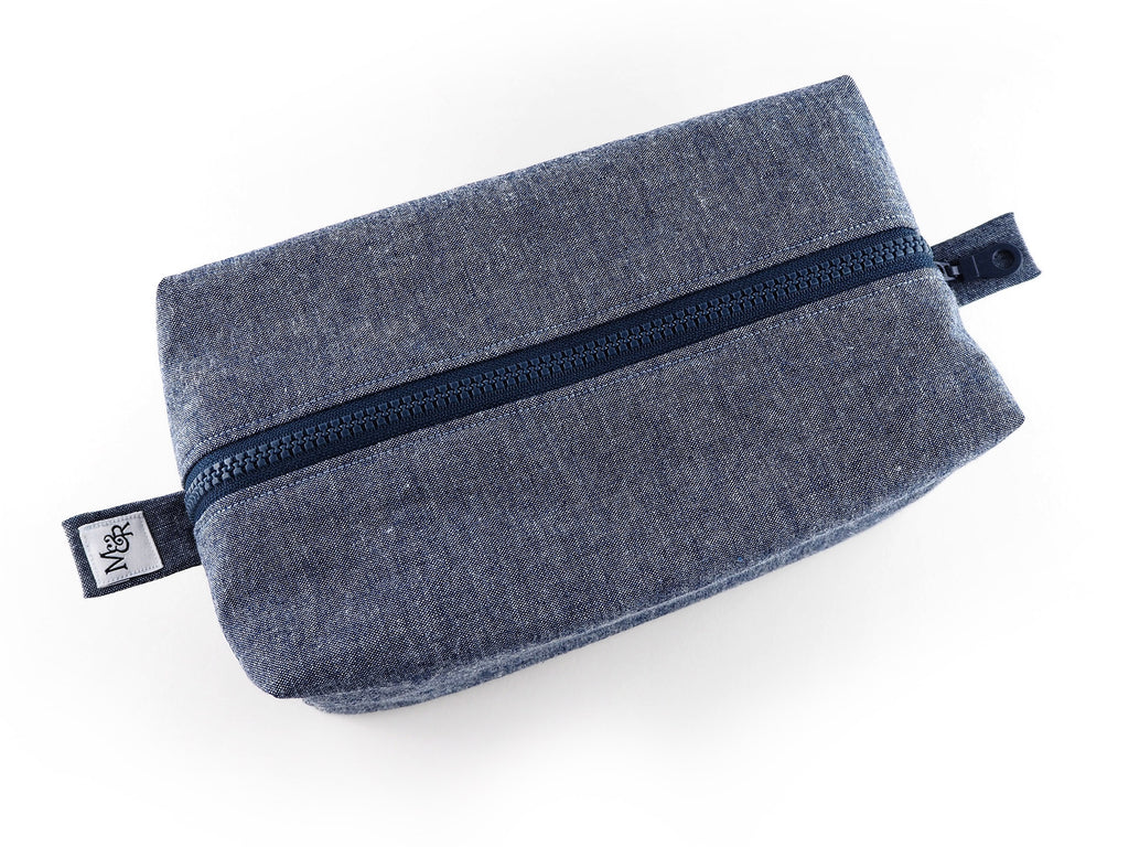 Handmade denim designer travel bag
