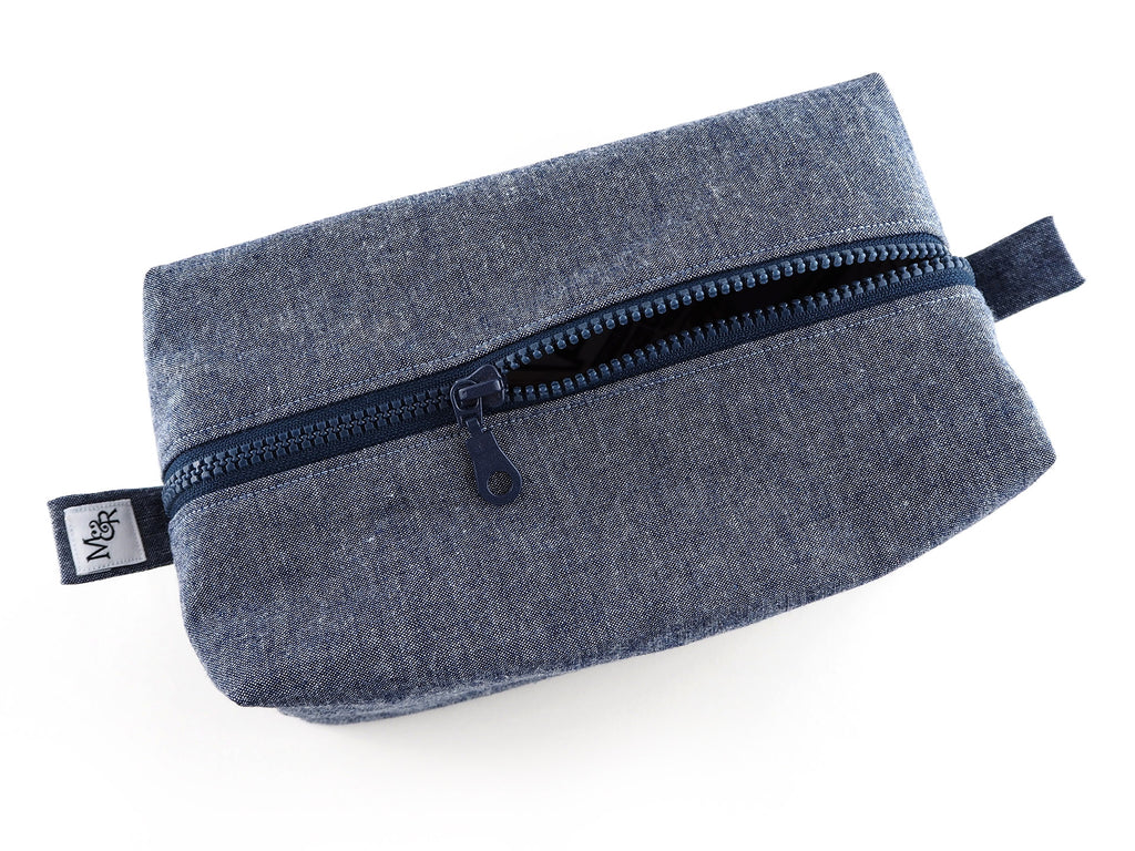 Handmade denim travel bag