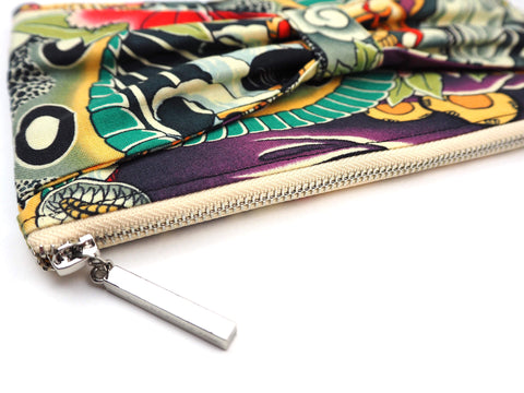 Handmade clutch bag in designer fabric