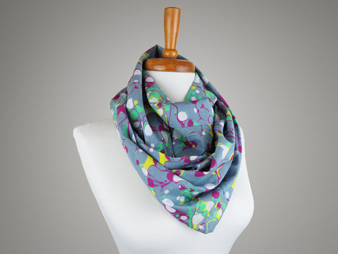 Handmade scarf in marble print fabric