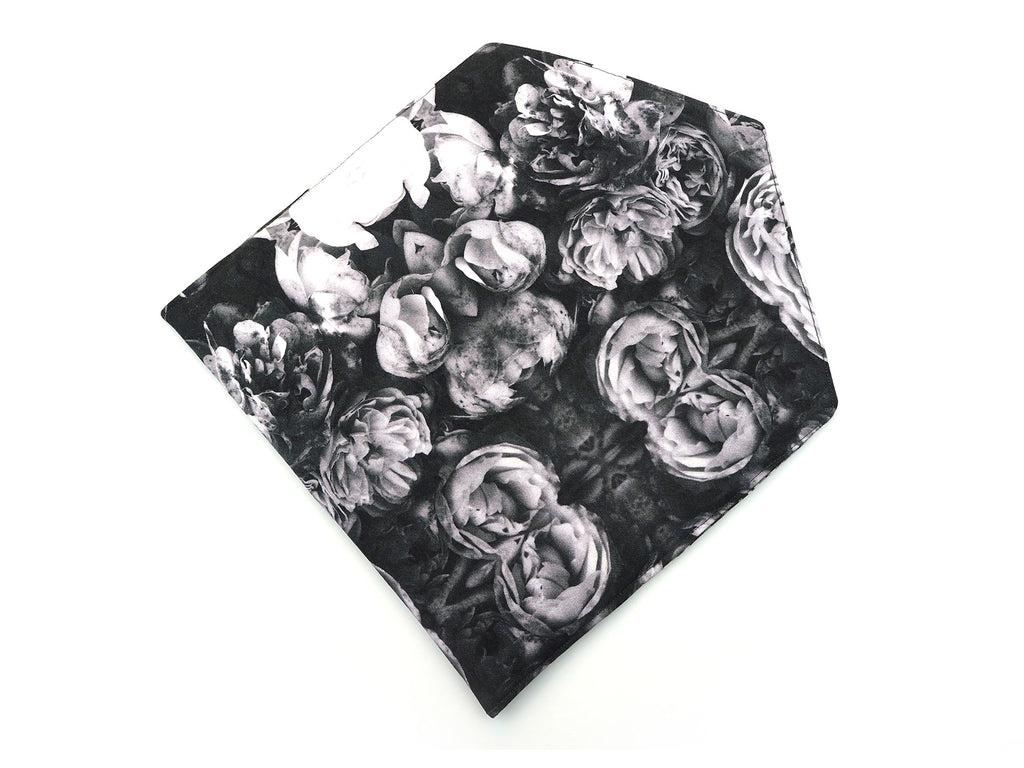 Handmade rose print envelope clutch