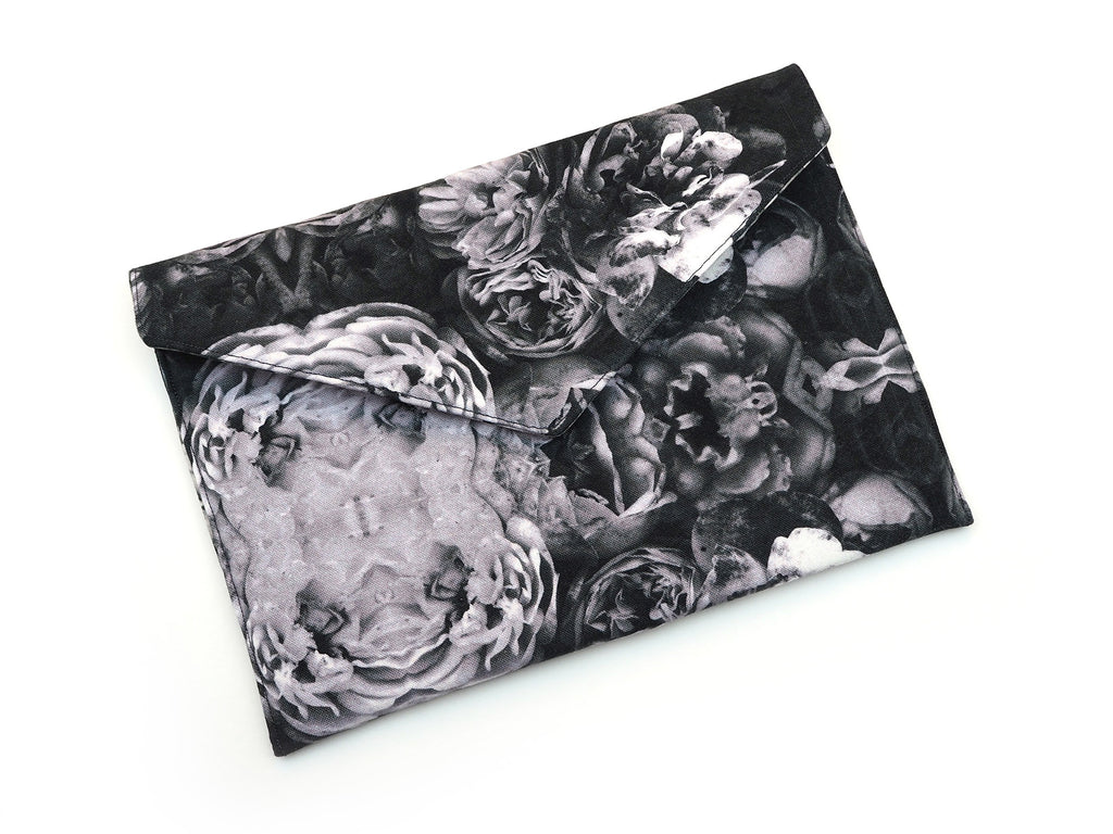 Rose print envelope clutch