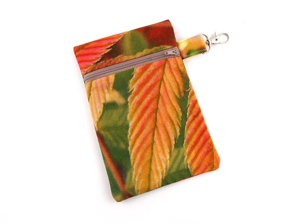 Nature print zipper pouch