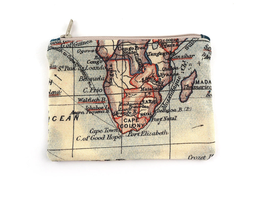 World map print travel pouch