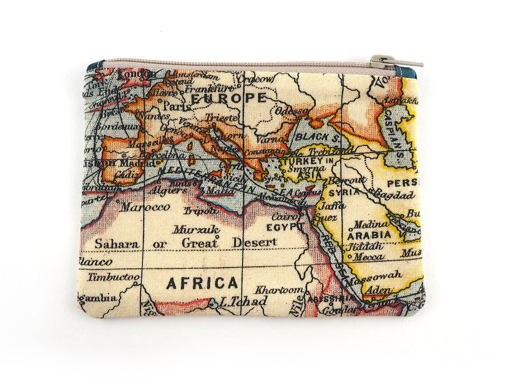 Map print pencil case