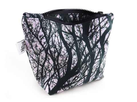 Monochrome handmade makeup bag
