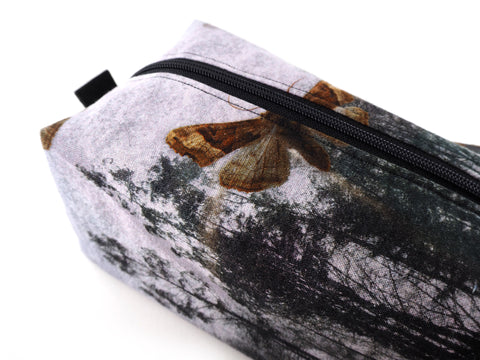 Handmade moth print project bag