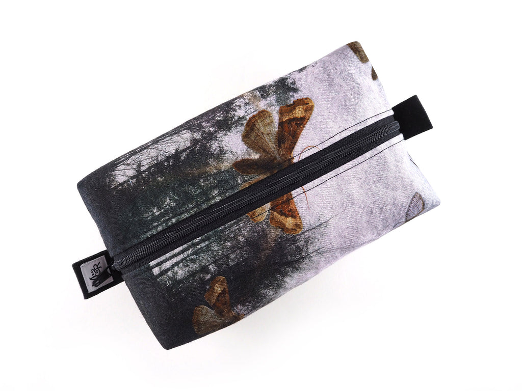 Moths and trees print bag
