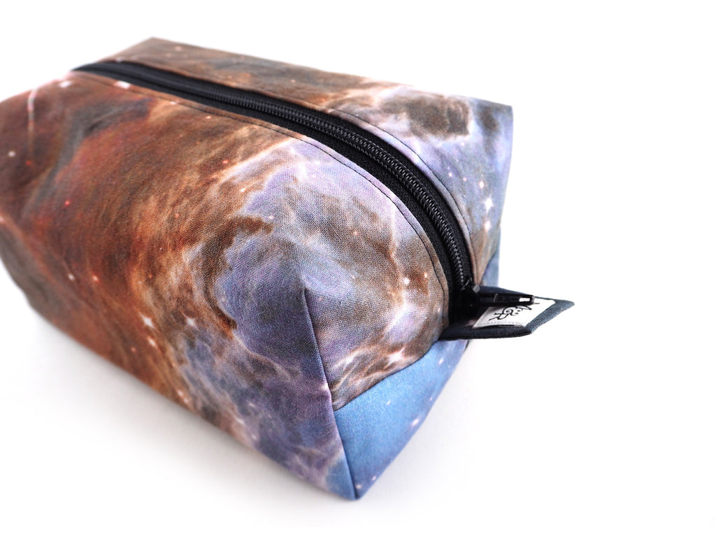 Handmade photographic cosmos print storage bag