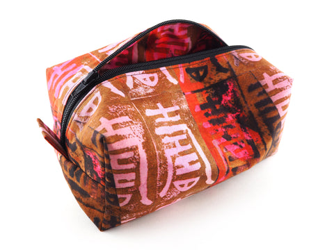 Handmade designer print travel bag