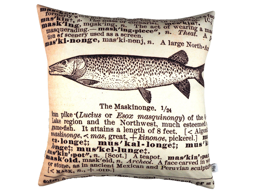 Handmade illustration print cushion