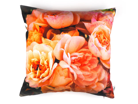 English rose print cushion