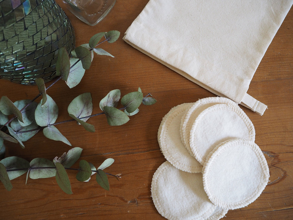 Reusable handmade cotton pads for makeup removal
