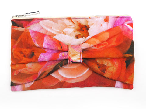 English Rose Bow Clutch Bag