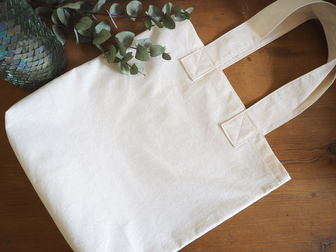 Handmade reusable cotton shopping bag